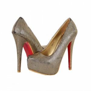 Pantofi Cu Toc Linn Gold