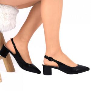 Pantofi cu toc Negru Cod 8551