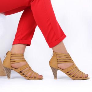 Pantofi cu toc pentru dame cod B563 Brown