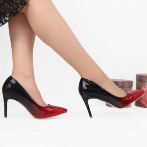 Pantofi Cu Toc SA1731 Roși
