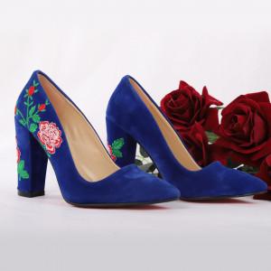 Pantofi Cu Toc Shea Blue