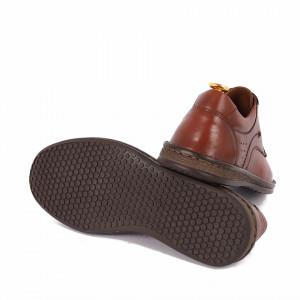 Pantofi din piele naturală Arlen Maro - Pantofi din piele naturală, model simplu, finisaje îngrijite cu undesign deosebit și închidere prin șiret - Deppo.ro