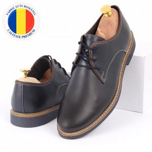 Pantofi din piele naturală belumarin închis cod Alex Albastru