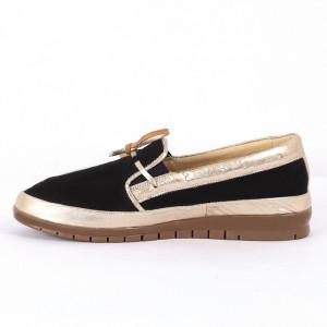 Pantofi din piele naturală bleumarin Cod 1257 - Pantofi damă din piele naturală întoarsă   Foarte comfortabili - Deppo.ro
