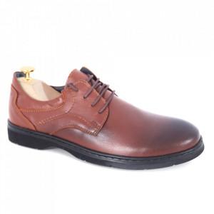 Pantofi din piele naturală cod 04 Maro