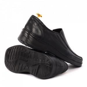 Pantofi din piele naturală cod 06-N Negri - Pantofi din piele naturală pentru bărbați, model simplu, finisaje îngrijite cu undesign deosebit - Deppo.ro