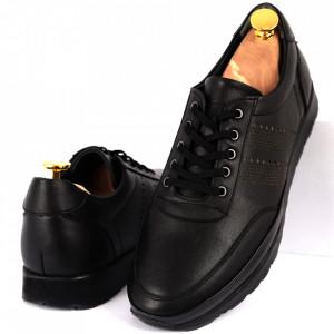 Pantofi din piele naturală Cod 1040 Negru
