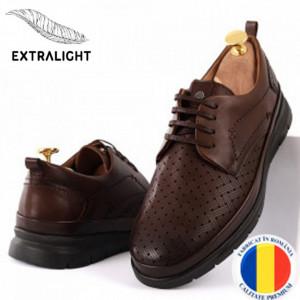 Pantofi din piele naturală Cod 174 Maro