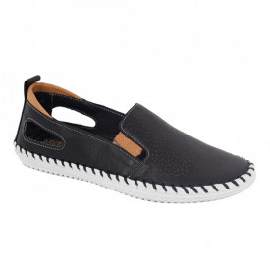 Pantofi din piele naturală cod 30107 Black