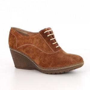 Pantofi din piele naturală cod 432 Brown
