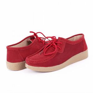 Pantofi din piele naturală cod 85171 Roși