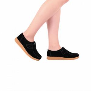 Pantofi din piele naturală cod 8518-1 Negri