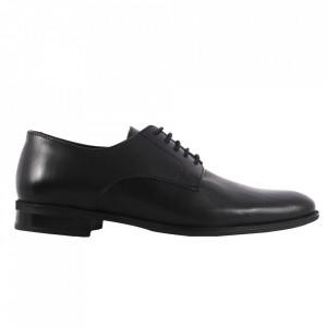 Pantofi din piele naturală cod 961 Negru