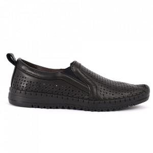 Pantofi din piele naturală Cod T485 Negri - Pantofi din piele naturală pentru dame Model perfofat, tălpic moale ce conferă comoditatea de care ai nevoie - Deppo.ro
