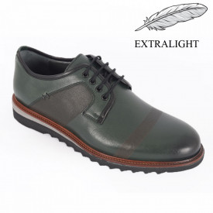 Pantofi din piele naturală pentru bărbați cod 10255 Yesil