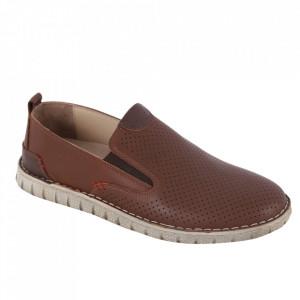 Pantofi din piele naturală pentru bărbați cod 21910 Taba