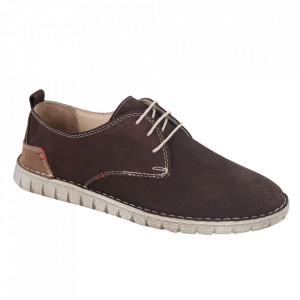 Pantofi din piele naturală pentru bărbați cod 21911 Kahve Nbk