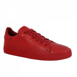 Pantofi din piele naturală pentru bărbați cod 550 Red