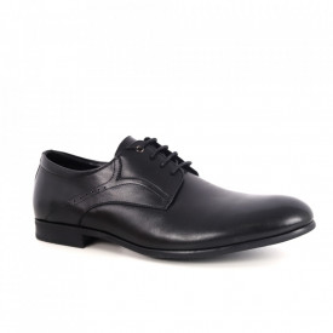 Pantofi din piele naturală pentru bărbați cod 611-1 Black