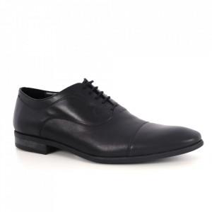 Pantofi din piele naturală pentru bărbați cod 745 Black