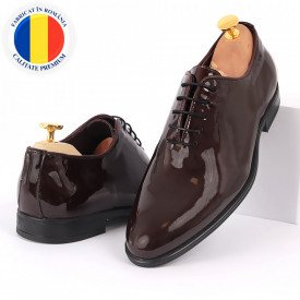 Pantofi din piele naturală pentru bărbați cod 913 Bordo