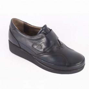Pantofi din piele naturală pentru dame cod 001 Navy