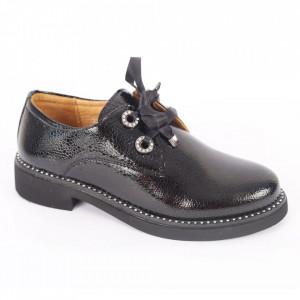 Pantofi din piele naturală pentru dame cod 309 Negru