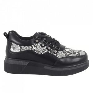 Pantofi pentru dame cod PL-237 Black/Snake
