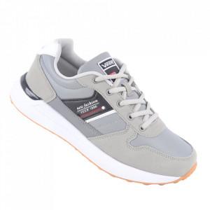 Pantofi sport din piele naturală pentru bărbați cod 2020-4 Light Gray
