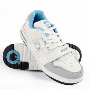 Pantofi Sport din piele naturală pentru bărbați cod 830 White