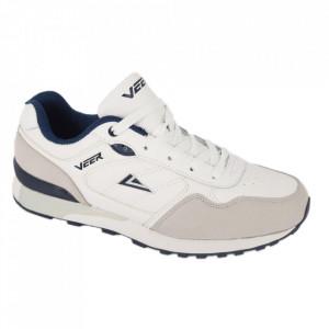 Pantofi sport din piele naturală pentru bărbați cod 9257A Alb