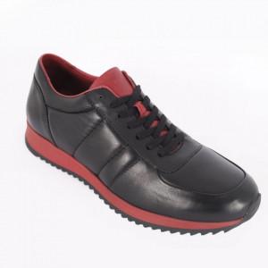 Pantofi sport din piele naturală pentru bărbați cod 9401 Siyah Bordo