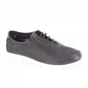 Pantofi sport din piele naturală pentru dame cod 231 Gri Închis