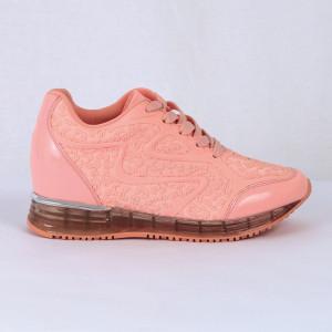 Pantofi Sport Jazmyn Cod 470 - Pantofi sport din piele ecologică întoarsă și piele ecologică lăcuită  Închidere prin șiret  Foarte comfortabili - Deppo.ro