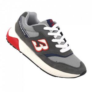 Pantofi sport pentru dame cod B0057-12 DK. Grey-Red