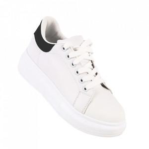 Pantofi sport pentru dame cod J1860 White/Black