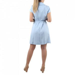 Rochie Anne Blue - Rochia ANNE îți conferă o ținută lejeră de vară. Este o rochie tip sacou cu decolteu și închidere prin nasturi. Cureaua este inclusa în ținută. - Deppo.ro