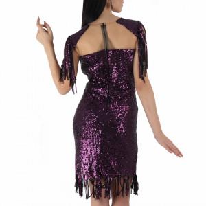 Rochie Danielle Bordo - Rochie elegantă cu paiete, simte-te atrăgătoare purtând această rochie și strălucește la urmatoarea petrecere. - Deppo.ro