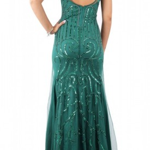 Rochie de seară Mana Verde - Cumpără îmbrăcăminte și încălțăminte de calitate cu un stil aparte mereu în ton cu moda, prețuri accesibile și reduceri reale, transport în toată țara cu plata la ramburs - Deppo.ro