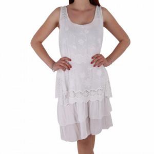 Rochie de vară cod I18109 Albă