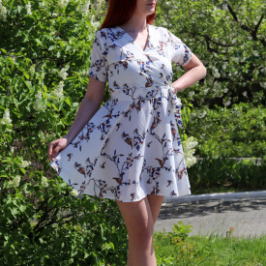 Rochie de vară cod LP5592 Albă