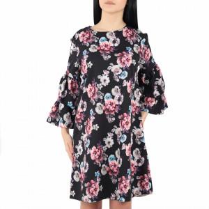 Rochie Florală Alani Neagră