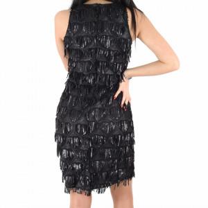 Rochie Lariss Black - Rochie scurtă cu paiete neagră simte-te atrăgătoare si misterioasă purtând această rochie și atrage toate privirile la urmatoarea petrecere. - Deppo.ro