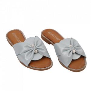 Saboți pentru dame cod W21-30 Blue - Pantofi cu un model, foarte confortabili potriviți pentru birou sau evenimente speciale. - Deppo.ro