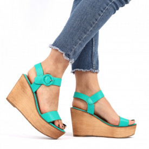 Sandale cu platforma cod AG 012 Green