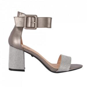 Sandale din piele ecologică cod M27 Pewter