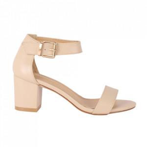 Sandale din piele ecologică cod OD0101 Beige