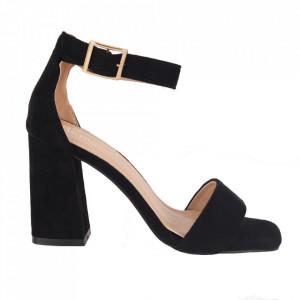 Sandale din piele ecologică cod OD0227 Black fabric