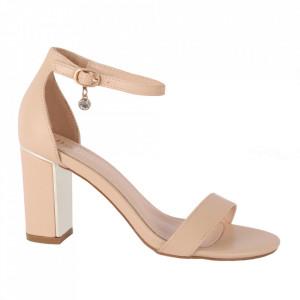 Sandale din piele ecologică cod OD339 Beige