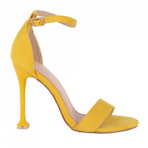 Sandale din piele ecologică cod OD345 Yellow